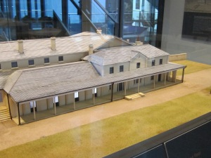 Model of the original Government House, Museum of Sydney