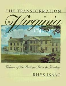 Transformation-of-Virginia-1740-1790-Isaac-Rhys-9780807848142