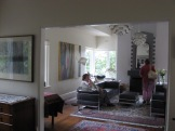The magnificent lounge room. The fireplace was striking