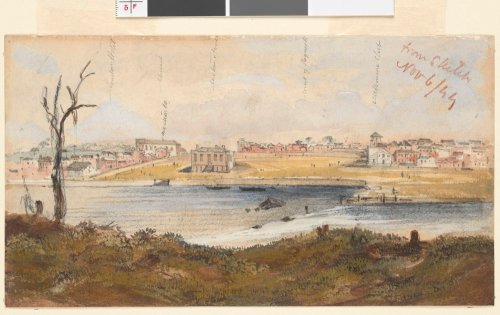 Melbourne from the falls 1844